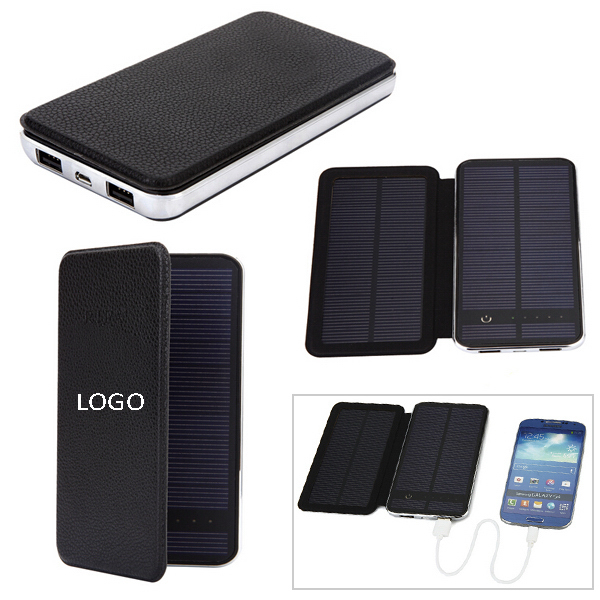 10000mAh Leather Solar Charger