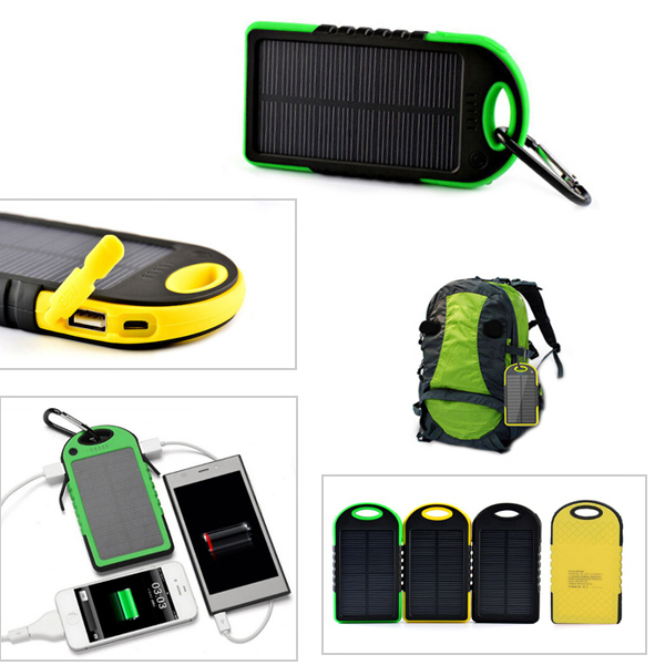 5000 mAh Waterproof Solar Charger