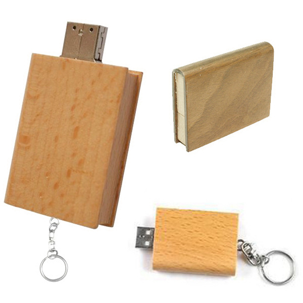 Book Style Wooden U Disk USB Flash Drive Pen Drive