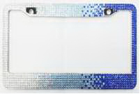 Diamond-encrusted License Plate Frame