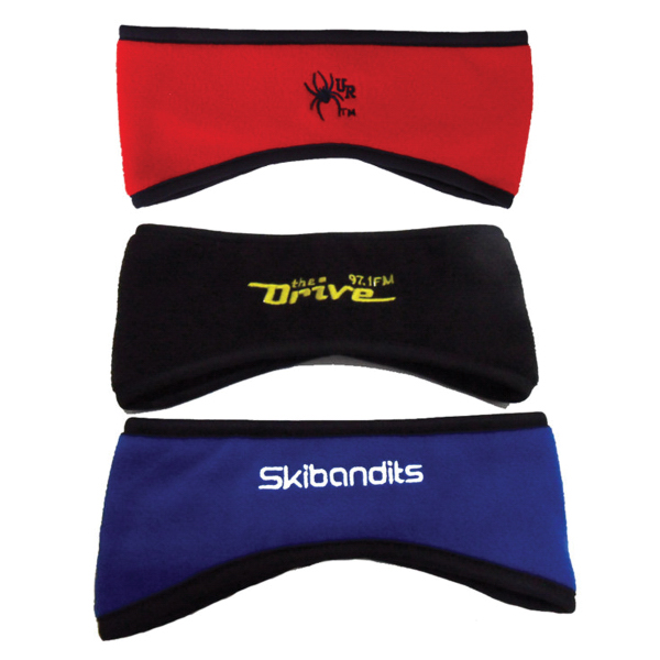 Embroidered Polar Fleece Headband