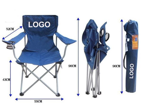 Large Folding Chair w/330 lb. Rating & Carry Bag
