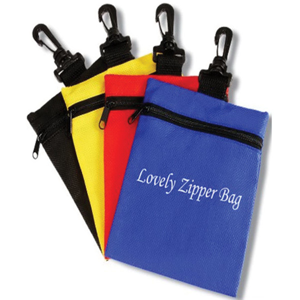 Nonwoven Zipper Pouch with Belt