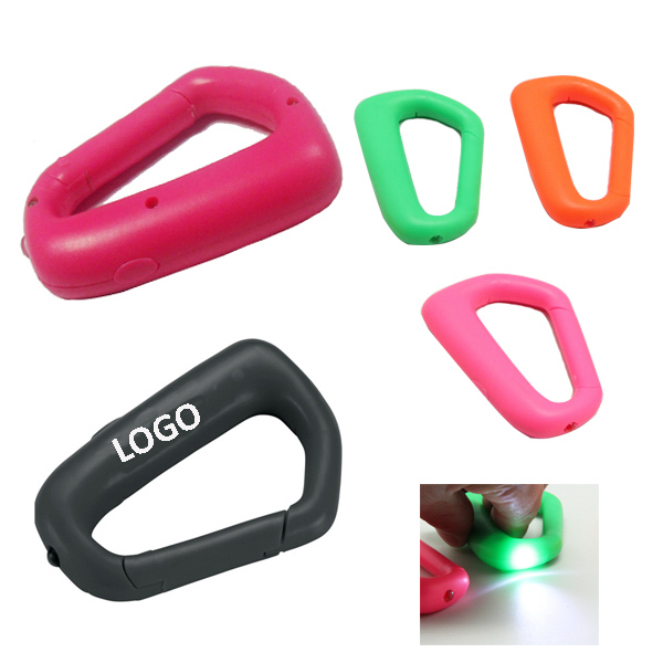Plastic Carabiner With LED Light