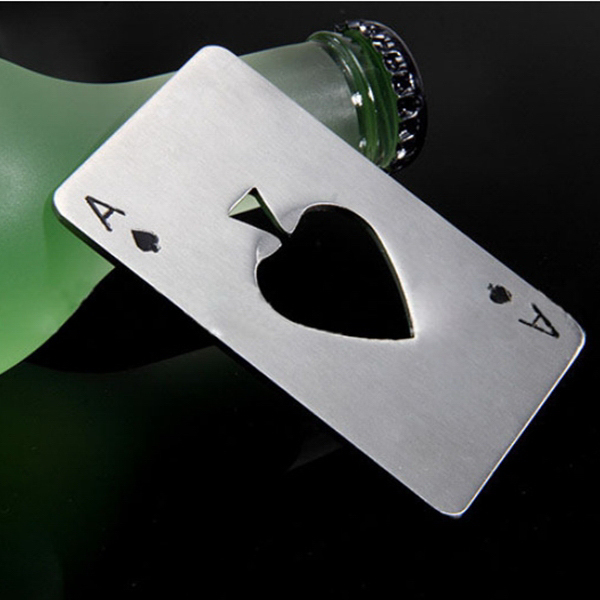 Poker Card Shaped Bottle Opener