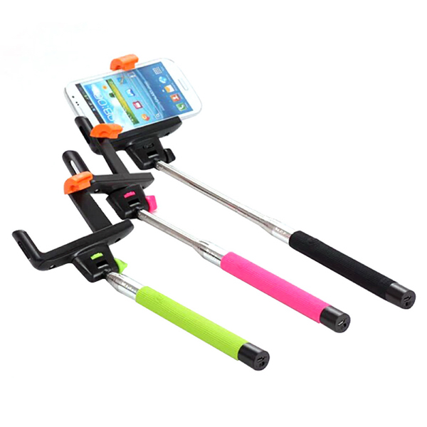 Printed handle bluetooth selfie sticks,selfie monopod