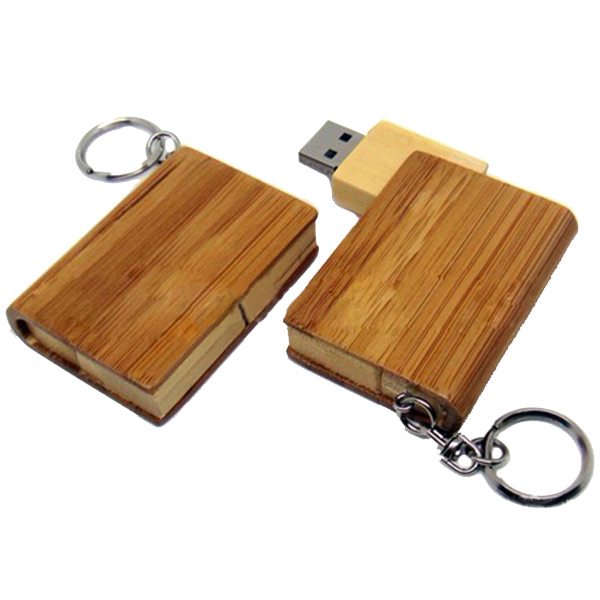 Wooden Book USB Flash Drive