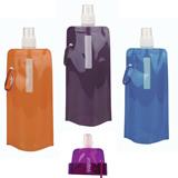 16 Oz Foldable Reusable PE Water Bottles BPA Free