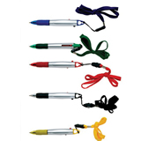 2-Color Pen with Lanyard