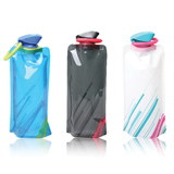 24 Oz Eco-Highway Hydration Foldable Water Bottle BPA Free
