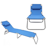 3 Positions Reclining Aluminium Folding Beach Chair