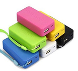 3000 mAh Portable Lithium Ion Power Bank Charger with Cord