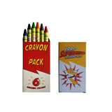 6 Pack Custom Crayon