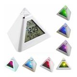 7 LED Color Change Pyramid Digital Alarm Clock