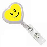 ABS Heart Shape Badge Reel;Heart Shape Lanyard Badge
