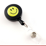 ABS Smile Face Badge Reel;Smile Face Lanyard Badge
