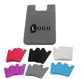 Adhesive fabric phone wallet