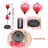 Adjustable Adult Free Standing Punch Ball Bag Boxing Gloves
