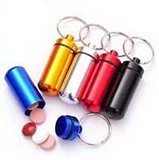 Aluminum Outdoor Pill Bottle with Keychain