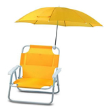 Beach Chair with Sunshade;Sunshade Canvas Beach Chair