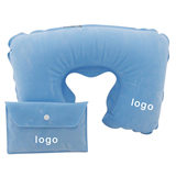 Best Sale U Shape Flocking Inflatable Travel Neck Pillow
