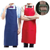 Bib Apron with Two Patch Pockets
