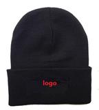 Black acrylic winter hat,Winter beanie hat