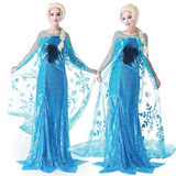 Blue Frozen Queen Elsa's Cosplay Dress Costumes