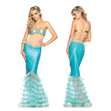 Blue Little Mermaid Cosplay Costume for Party