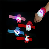Christmas Flash Light Pat Ring Slap Bracelet LED Christmas D