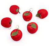 Christmas Tree Ornament Red Foam Apple