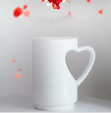 Coffee Mugs with Heart Shape Handle