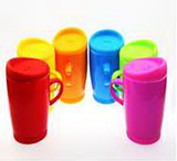Colorful Ceramic Coffee Mug with Silicone Cap