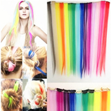 Colorful Clip On Hair Extension Wig