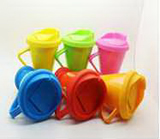 Colorful Flaring Ceramic Coffee Mug with Silicone Cap
