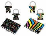 Colorful key holder card case