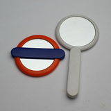 Cosmetic Pocket Mirror With Foldable Handle
