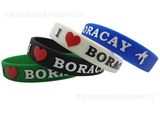 Custom Embossed or Silkscreen Silicone Wristbands/Bracelets-