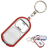 Custom Imprinted LED Light Keychain with Bottle Opener