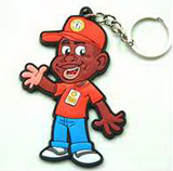 Customized Rubber Keychains