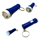 Cylindrical LED Flashlight With Keychain