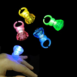 Dazzling Toys Blinking LED Lights Bumpy Rings