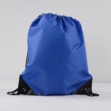 Drawstring Bag With Leather Reinforcement Black Trim At Bott