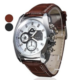 Fashion Luxury Quartz Leather Band  Unisex Sport Wristwatch