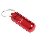 Fashion New Design Metal Pill Box with Keychain