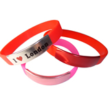 Fashionable Unisex Silicone Bracelet With Metal