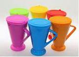 Flaring Ceramic Coffee Mug with Silicone Cap