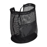 Flex Mesh Drawstring Bag With Front Zip Pocket and  210D Pol