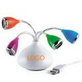 Flower-Shape 2.0 USB Hub with LED Light