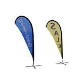 Flutter teardrop Flags with X Stand-single